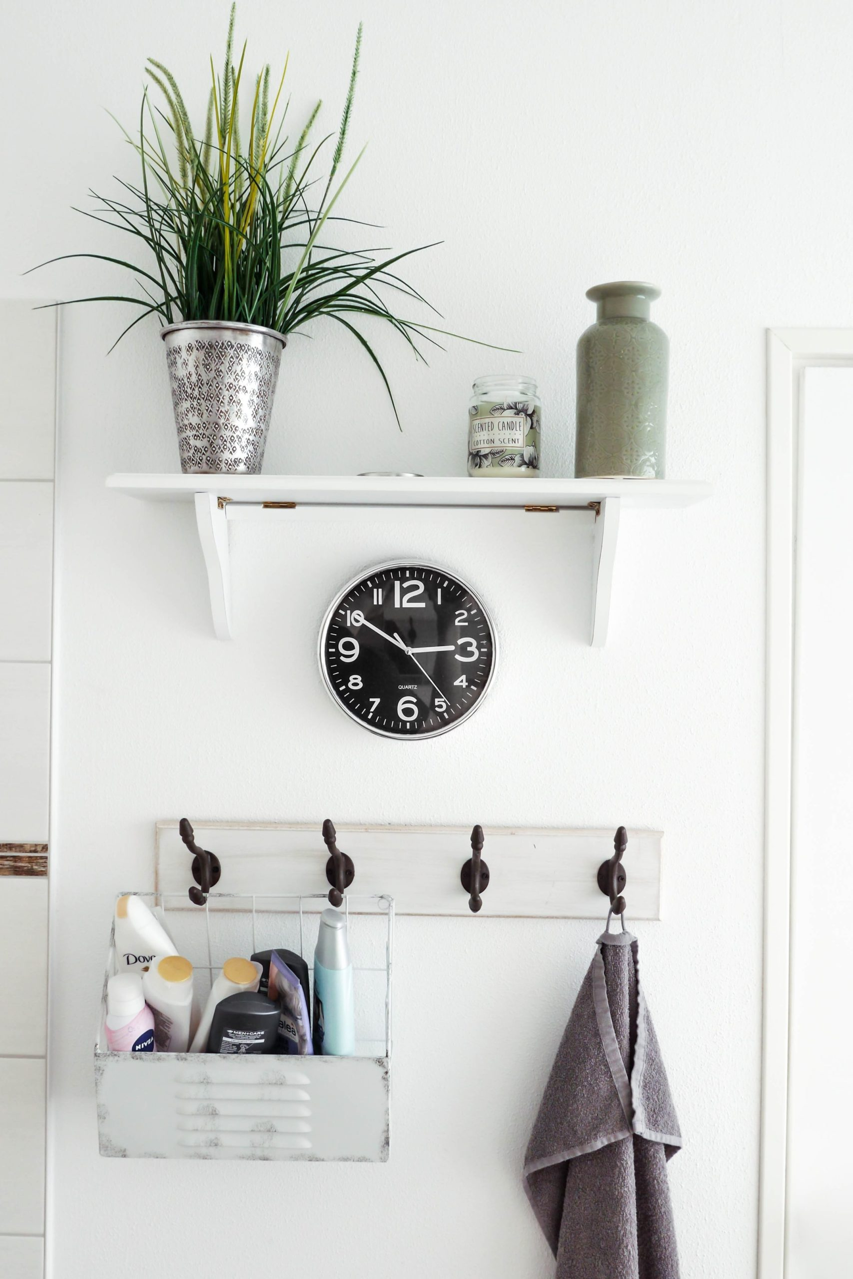 vertical storage in small bathrooms